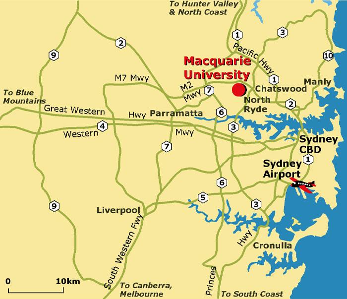 Map Of Australian Universities.Gemoc Department Of Eps Faculty Of Science Macquarie University